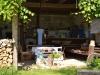 Letní kuchyně s mega postelí a dštským koutem