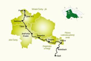 Turistická trasa Greenway Praha – Vídeň