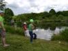 Rybolov pstruhů na dolním rybníku