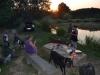 Rybaření na Dolnim rybníku s Modletickýma kozama.